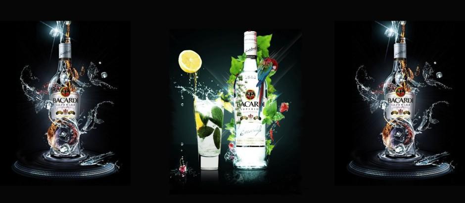 Bacardi white rum spirit -cocktail hunter