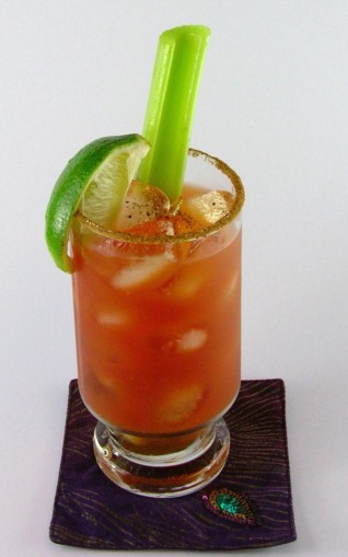 Vodka Drink Called A Ceasar