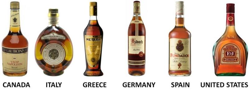 Brandy from around the world