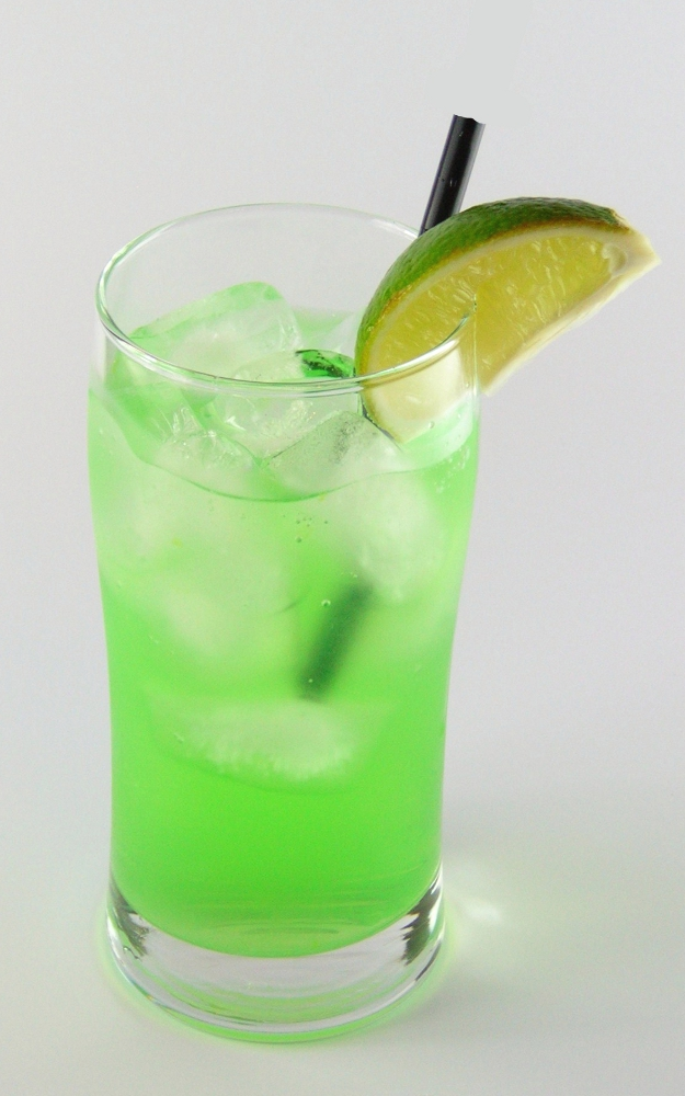 Alligator drink recipe with pictures for Cocktail pisang