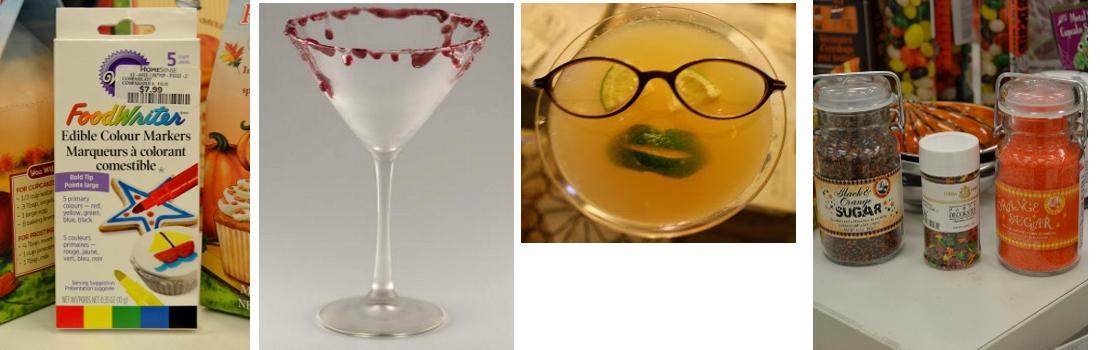 Hallowen cocktail garnishes