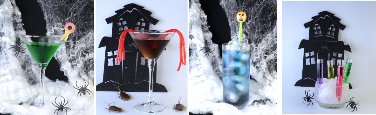 Halloween cocktail garnishes