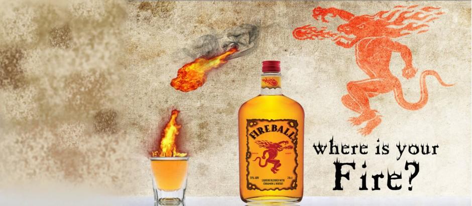 Fireball whisky liqueur